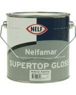 nelfamar supertop gloss 2,5 ltr wit/zwart