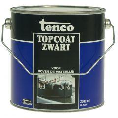 tenco topcoat zwart 2,5 ltr