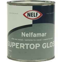 nelfamar supertop gloss 1 ltr wit/zwart
