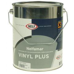 nelfamar vinyl plus 5 ltr  wit/zwart