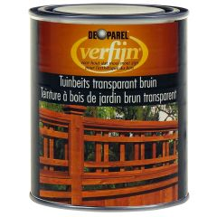 Verfijn Tuinbeits Transparant Bruin 0_75 ltr