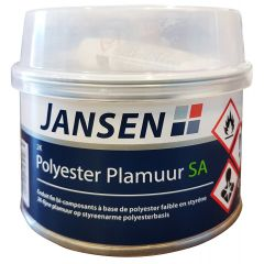 Jansen 2k Polyester Plamuur SA (wit) 500 gr