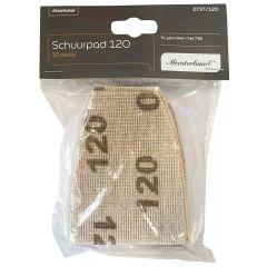 Meesterhand Schuurpad P120 (tbv. Onderdeurtje) 10 st