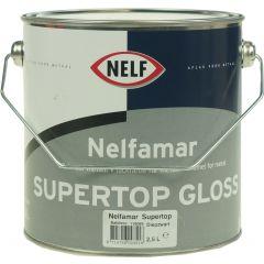 nelfamar supertop gloss 2_5 ltr wit_zwart