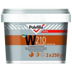 Polyfilla Pro W210 watergedragen houtvulmiddel 2x250 gr