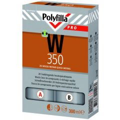 polyfilla pro w350 2k sneldrogende houtreparatie 0,3 ltr