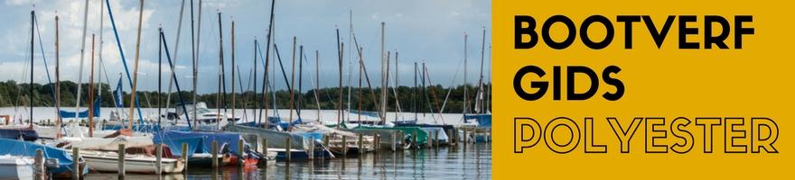 bootverf gids polyester boot verven onder de waterlijn en boven de waterlijn